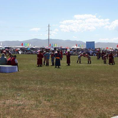 Reise Hunter Mongolei Nadaam Fest Ringen2