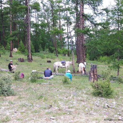 Reise Hunter Mongolei Pferdetour Pause