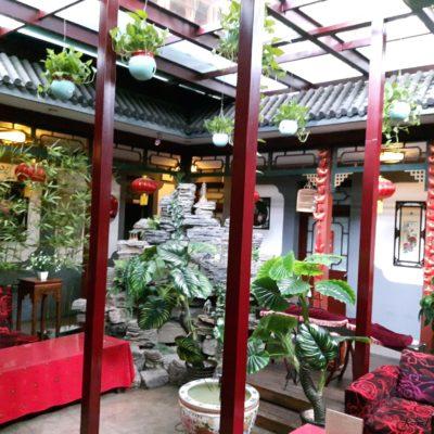Reise-hunter-peking unser Hostel im Hutong Innenhof