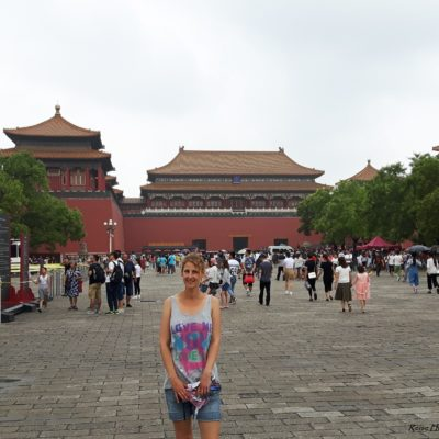 Reise-Hunter-Peking Verbotene Stadt Beweisfoto Judith