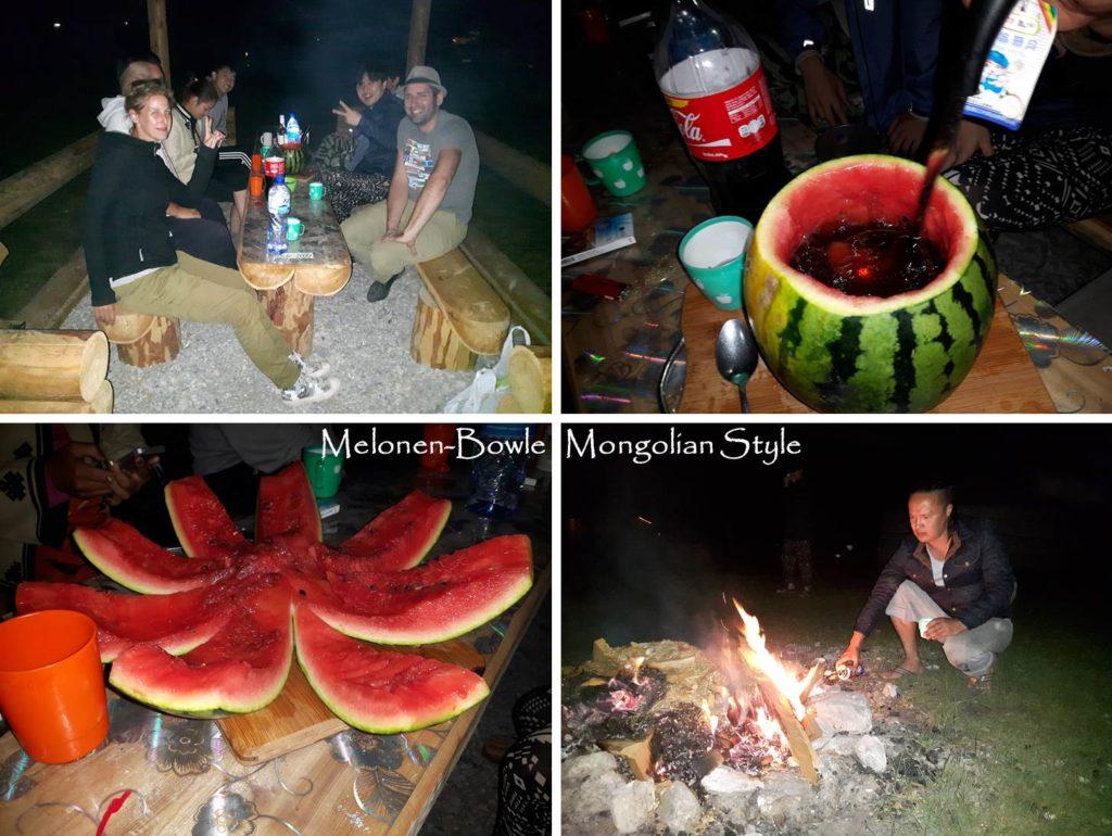 Reise Hunter Mongolei Melonen Bowle